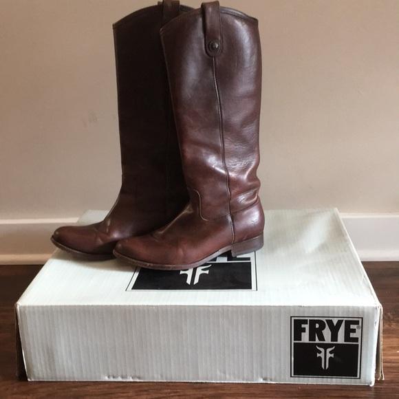 44c682a2e1e Frye Shoes - Melissa Button Boot Dark Brown